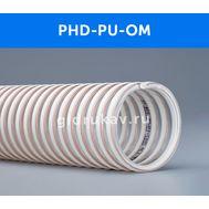 Напорно-всасывающий полиуретановый шланг с ПВХ спиралью PHD-PU-OM