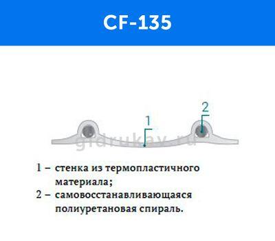 Восстанавливающий форму гибкий воздуховод CF-135 схема