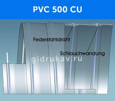 Гибкий ПВХ рукав PVC 500 CU схема
