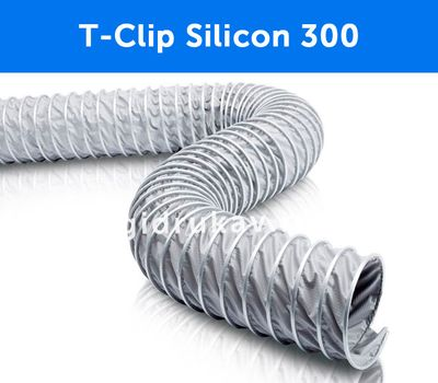 Гибкий высокотемпературный воздуховод T-Clip Silicon 300