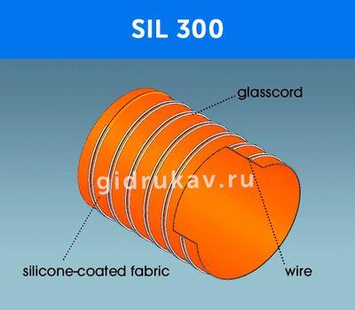 Гибкий высокотемпературный рукав SIL 300 схема