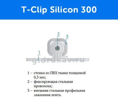 Гибкий высокотемпературный рукав T-Clip Silicon 300 схема