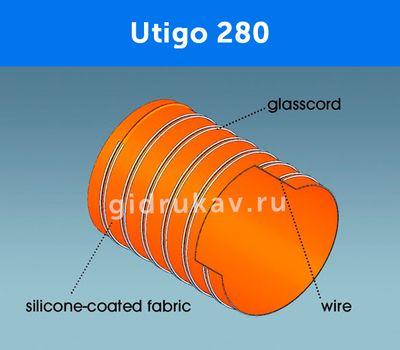 Гибкий высокотемпературный рукав Utigo 280 схема