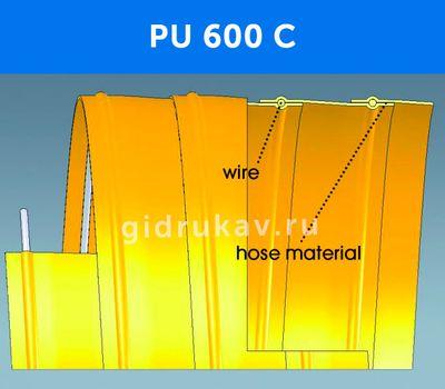 Гибкий гофрированный рукав PU 600 C схема