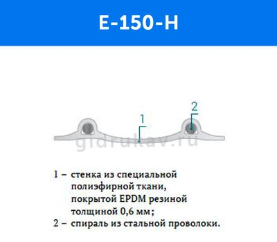 Гибкий химстойкий рукав E-150-H схема