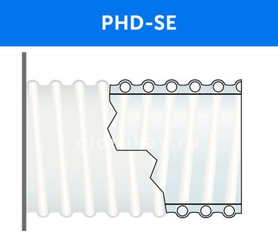 Напорно-всасывающий ПВХ рукав PHD-SE схема