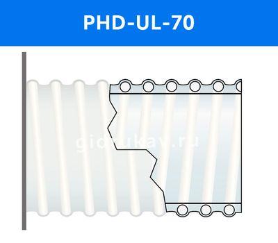 Напорно-всасывающий ПВХ шланг PHD-UL-70, фото 1