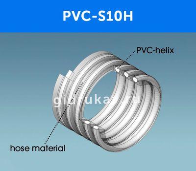 Напорно-всасывающий ПВХ рукав PVC S10H схема