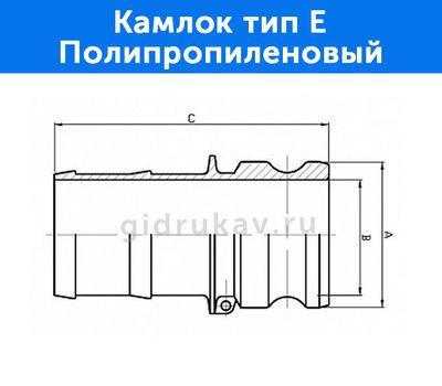 Камлок тип E - полипропиленовый, схема