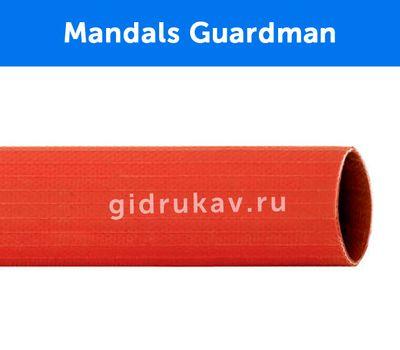 Плоскосворачиваемый напорный каучуковый шланг Mandals Guardman в разрезе